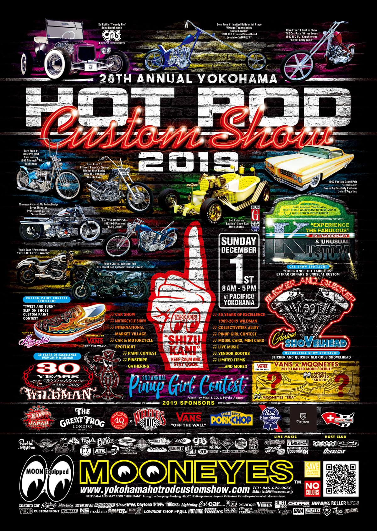 28th Annual YOKOHAMA HOT ROD CUSTOM SHOW 2019 Final Poster