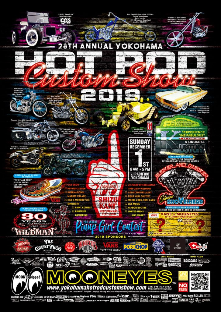 28th Annual YOKOHAMA HOT ROD CUSTOM SHOW 2019 Final Poster